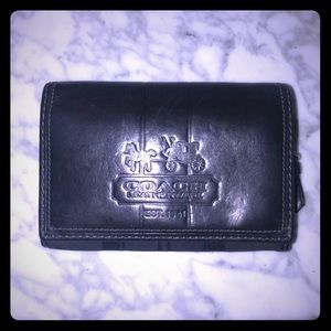 Coach Leather and Print Wallet